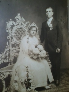 Grandmom Veronica Pisaczyk and Grandpop Jan Kramarz on their wedding day